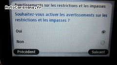 Paramétrage sur le gabarit: activation des messages d alerte